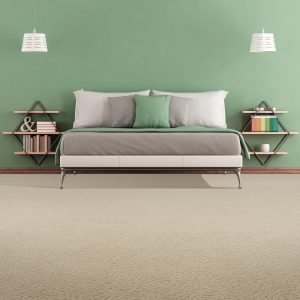 Green wall of bedroom | Thornton Flooring