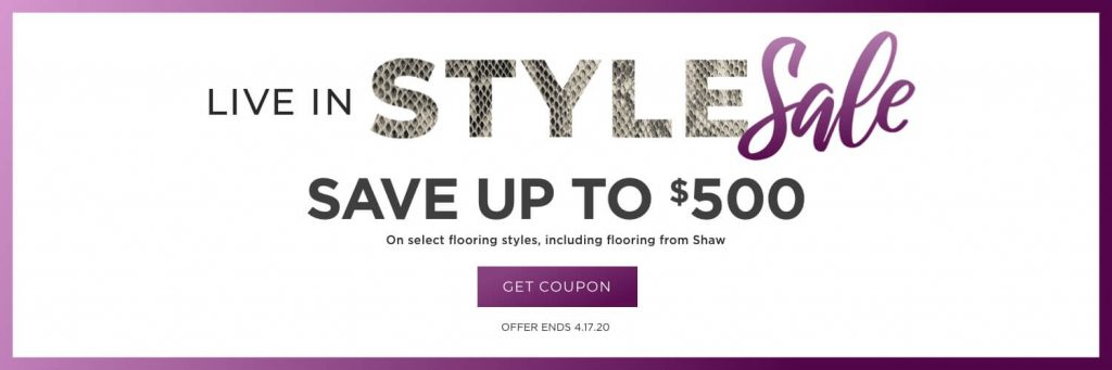 Live in style sale banner | Thornton Flooring
