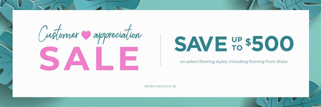 Customer Appreciation Sale | Thornton Flooring